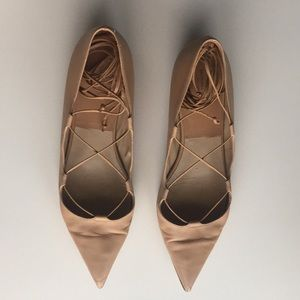 Michael Kors Collection Nude Kallie Lace up flats